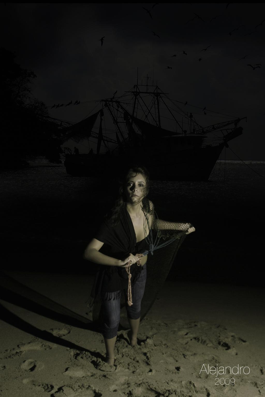 """""""Llegando de la pesca nocturna"""""""