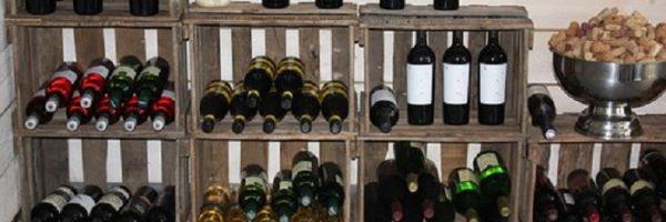 botelleros de madera