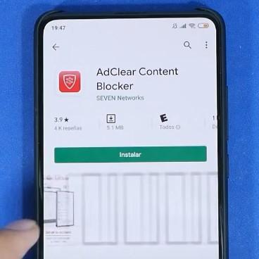 App para móvil que bloquea contenido molesto como anuncios y pop ups