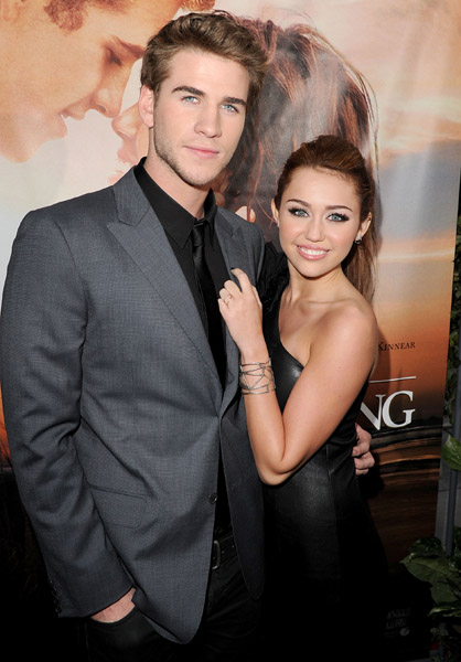 Miley Cyrus y Liam premiere the last song