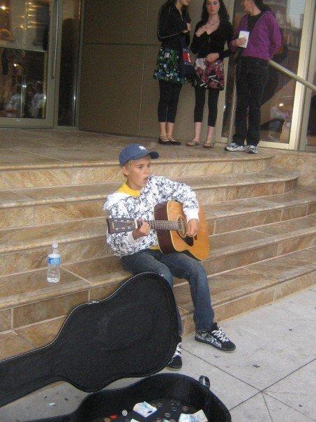 Justin Bieber fue Artista de la Calle