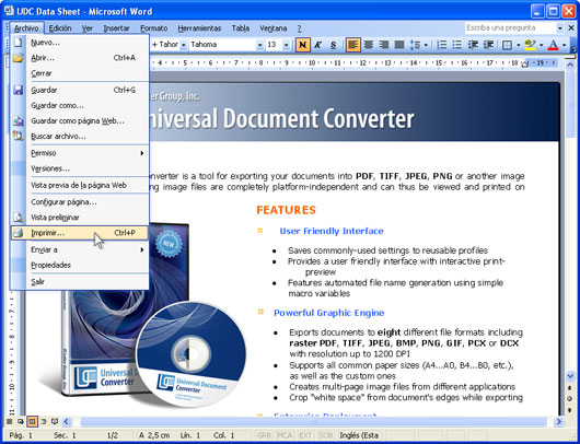 Convertir un documento Word (*.doc) a PDF