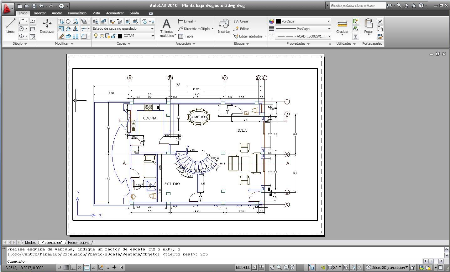 Josmvala autocad ejemplos y como imprimir en autocad for Muebles a escala 1 50 para planos