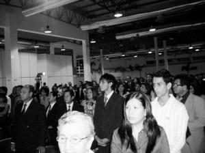 El Público viendo a sus graduados