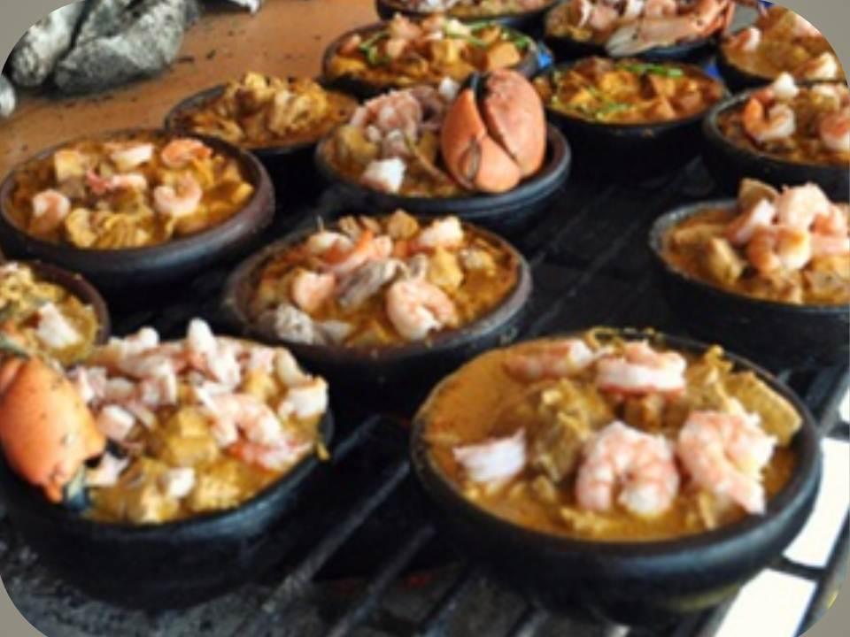 Deliciosa preparación de verde con mariscos y mani, considerado el plato ecuatoriano afrodisiaco