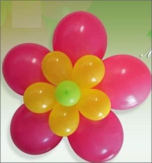 encima de la flor pequea va amarrado un globo 5 de menor tamao luego dando la flor de la flor silvestre