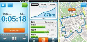 Aplicaciones para medir distancias al correr. Runner Apps