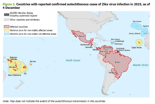 turistas latinoamerica zika