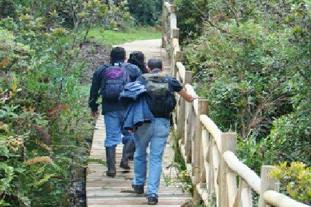 Bosque Protector Collay Chordeleg senderismo