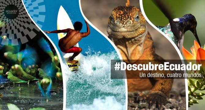 El turismo movió 390 millones de dólares de Enero a Noviembre 2017. Ecuador