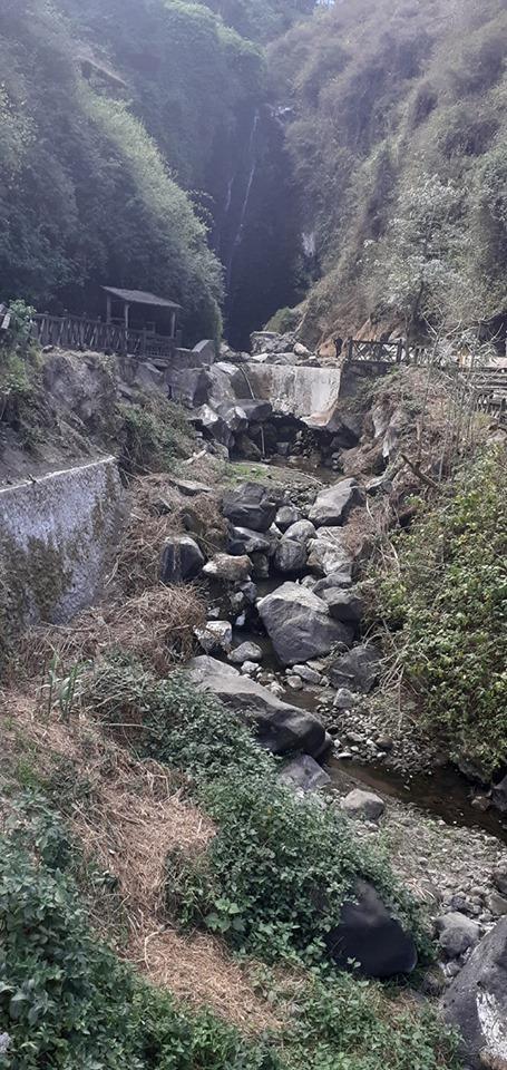 La cascada de Peguche en Otavalo se queda sin agua. Turismo Ecuador