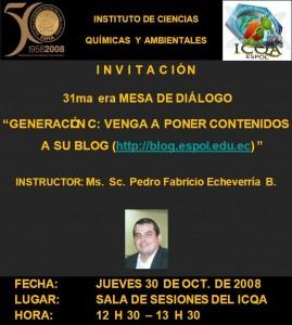 Ms. Sc. Pedro Fabricio Echeverria B. INSTRUCTOR