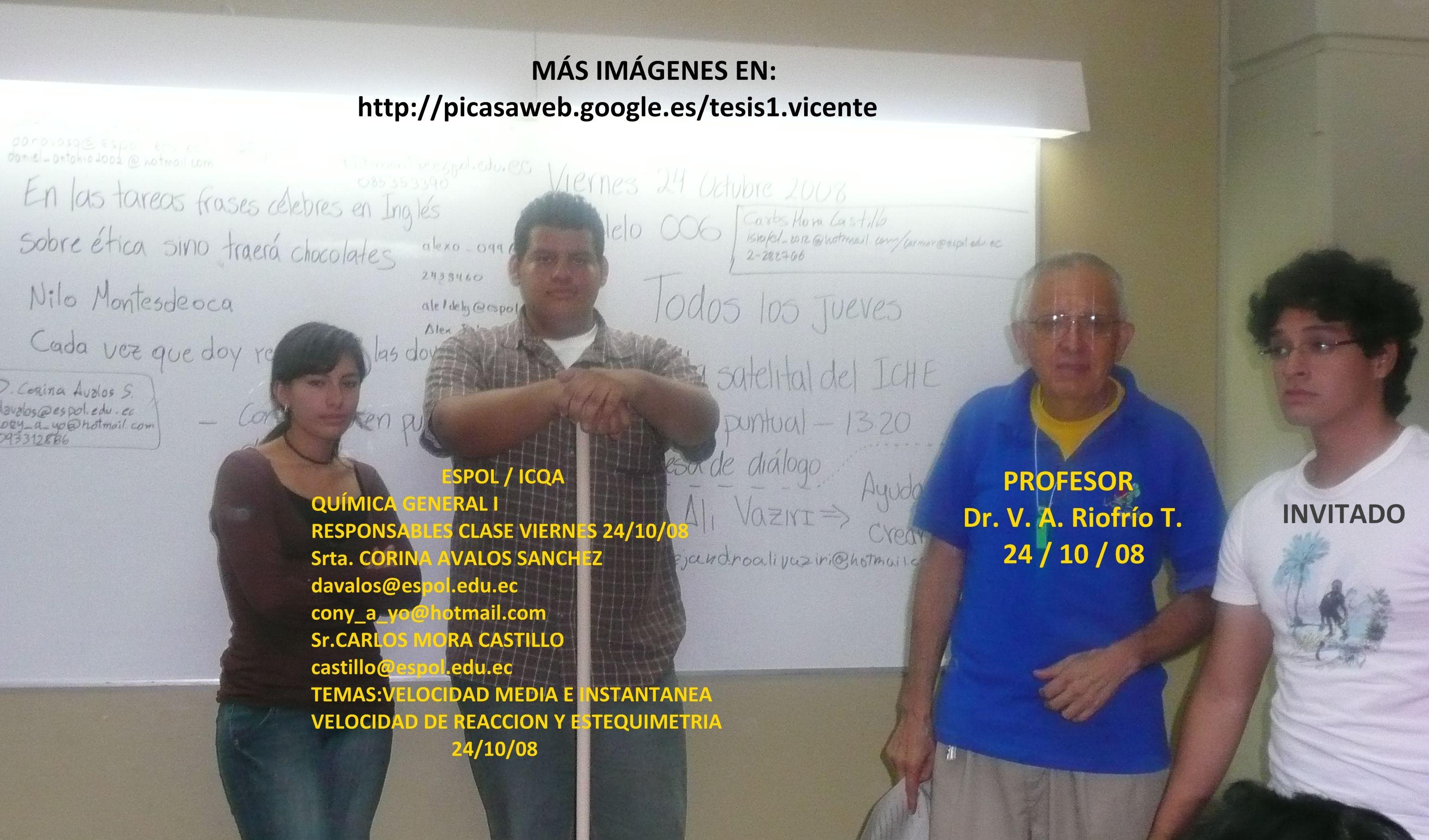 QG I; RESPONSABLES 24 / 10 / 08