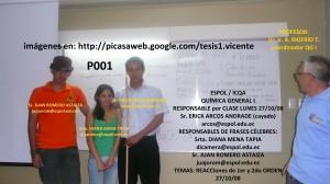 RESPONSABLES QG I P001 27 / 10 / 08