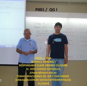 RESPONSABLE QG I P001 31 / 10 / 08