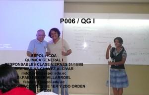 RESPONSABLES QGI P006 31 / 10 / 08