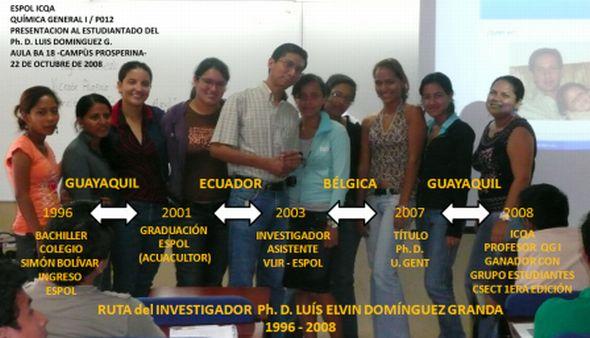 PRESENTACIÓN P012 DEL INVESTIGADOR L. E. DOMÍNGUEZ G.