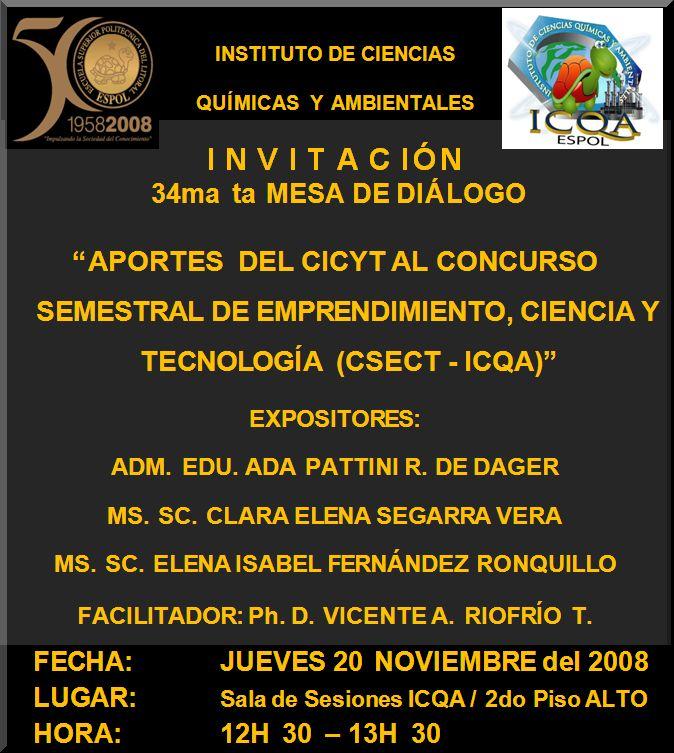 """""""APORTES DE LAS HERRAMIENTAS DEL CICYT AL CSECT (ICQA)"""""""