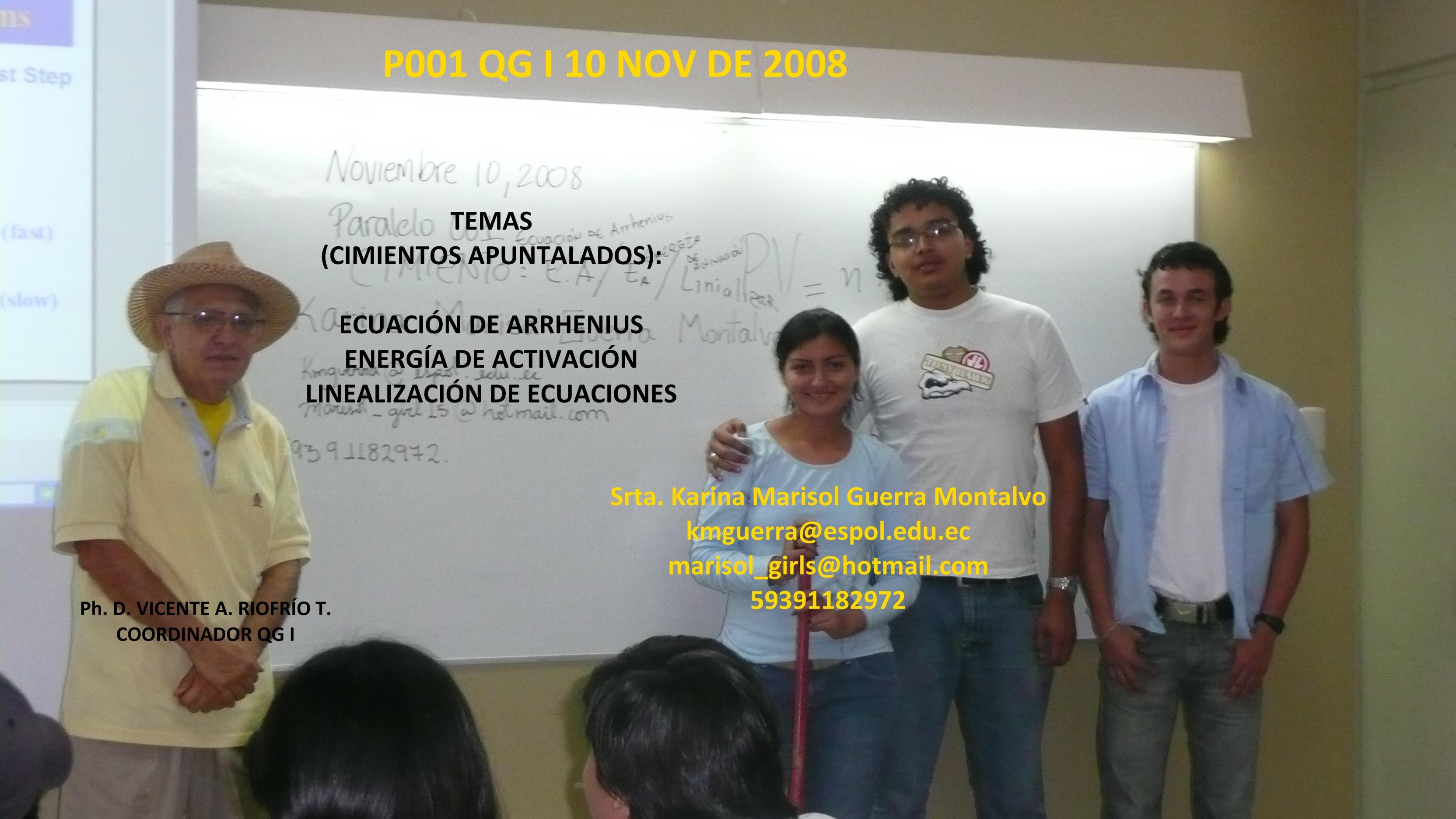 Srta. Karina Marisol Guerra Montalvo / RESPONSABLE POR 10 / 11 / 08