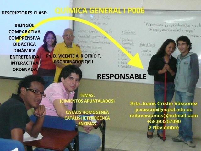 RESPONSABLE 18-11-08 Srta.Joans Cristie Vásconez