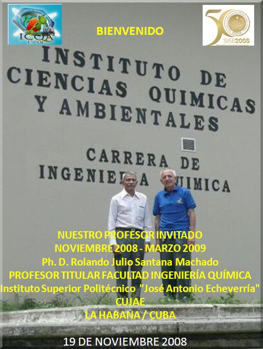Ph. D. Rolando Julio Santana Machado PROFESOR TITULAR FACULTAD INGENIERA QUMICA
