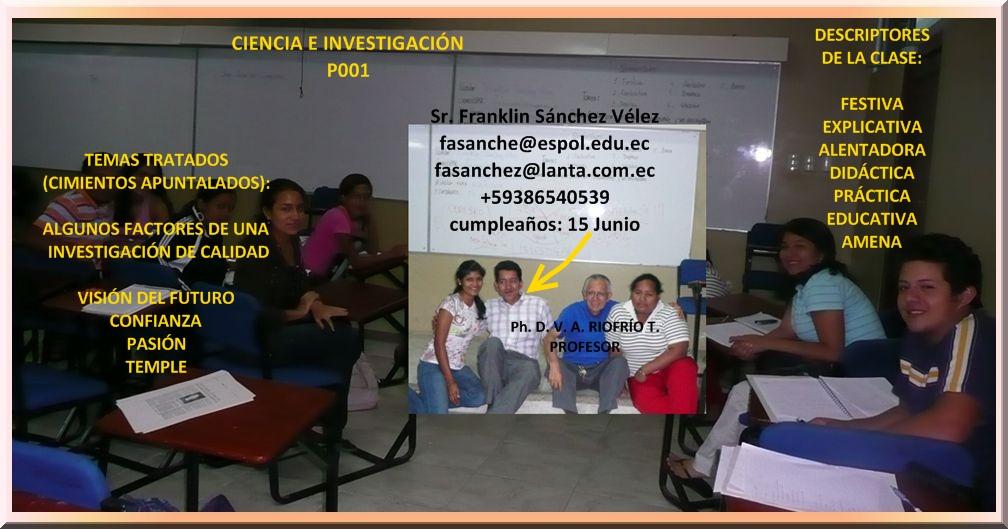 RESPONSABLE 19/11/08 Sr. Franklin Sánchez V.