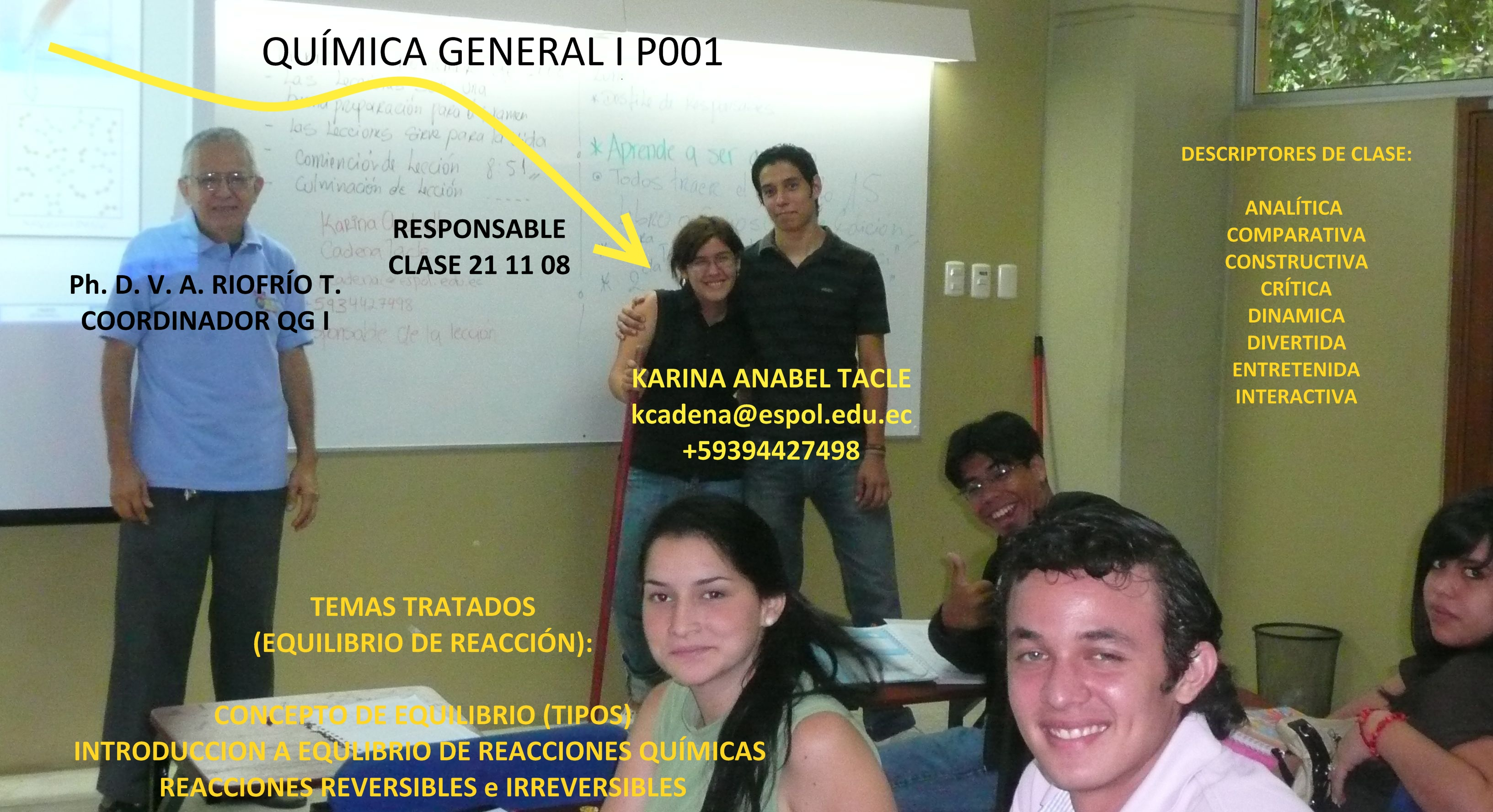 RESPONSABLE 21/11/08 Srta. KARINA ANABEL TACLE