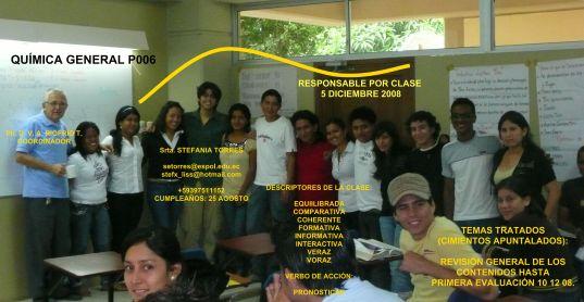 COMPAÑERA RESPONSABLE PARA CLASE 05-12-08 Srta. STEFANIA TORRES
