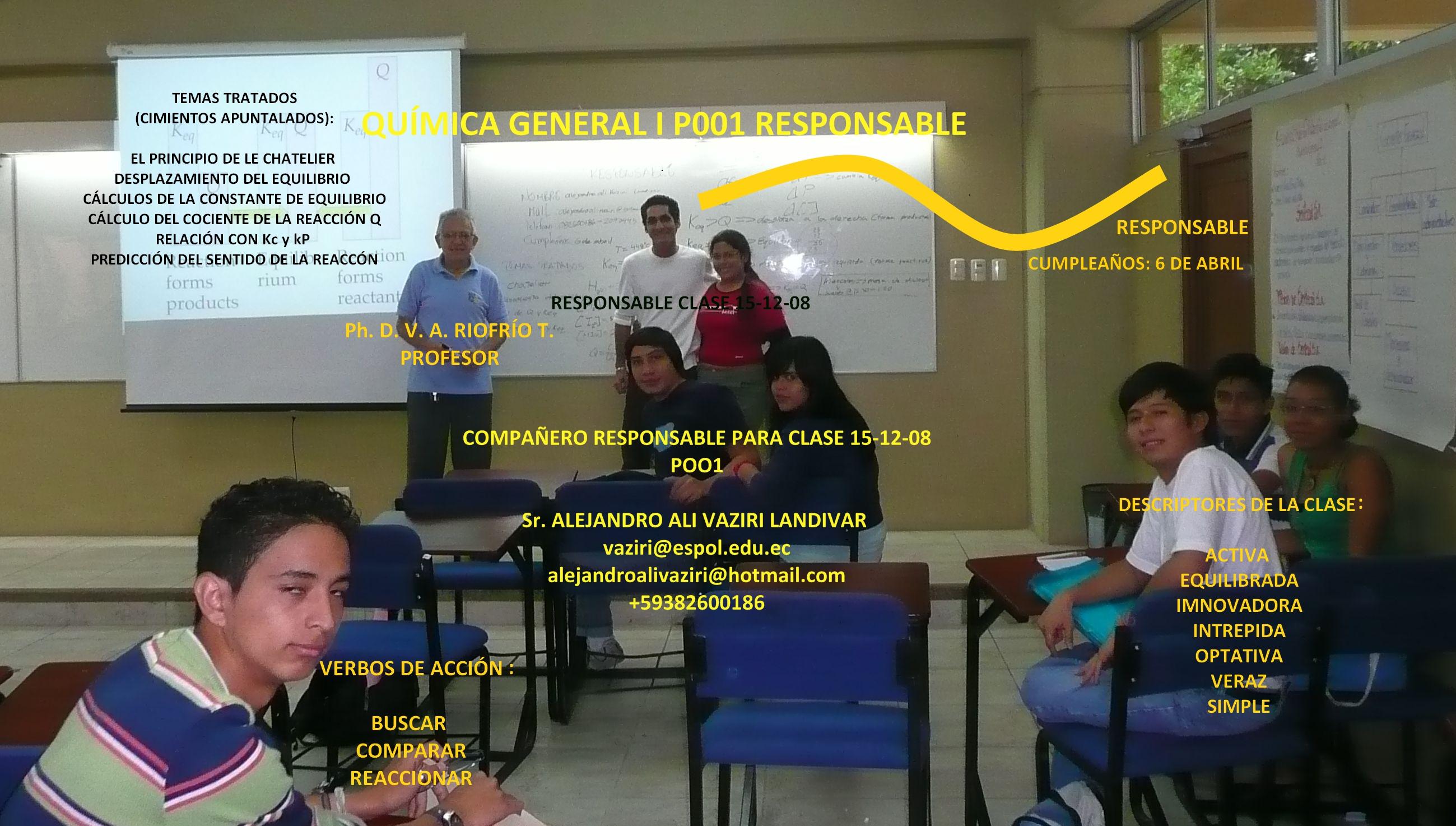 COMPAÑERO RESPONSABLE PARA CLASE 15-12- 08 / Sr. ALEJANDRO VAZIRI