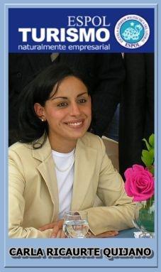 CARLA RICAURTE QUIJANO / Coordinadora de la Carrera de Turismo de la ESPOL / 2009