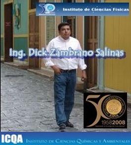 DICK ZAMBRANO SALINAS, PROFESOR FISICA ICF ESPOL