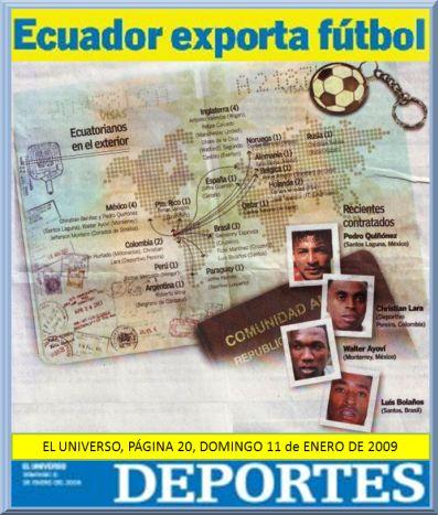 ecuador exporta buenos fulbolistas
