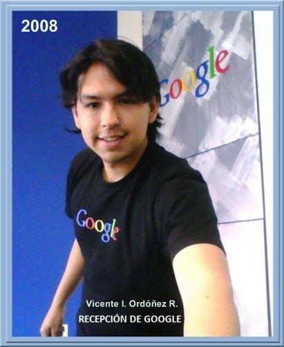 Vicente I. Ordóñez R. en la recepción de Google / 2008