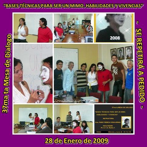 37ma ta Mesa de Dialogo 28 de enero de 2009 Srta. F. Vega A.