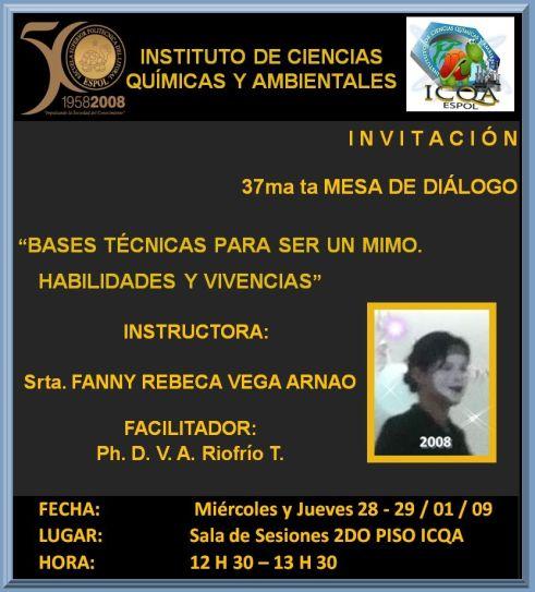 Srta. FANNY REBECA VEGA ARNAO / Estudiante de INGENIERIA EN AUDITORIA Y CONTROL DE GESTION / ICM - ESPOL