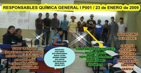 RESPONSABLE POR CLASE VIERNES 23 DE ENERO 2009