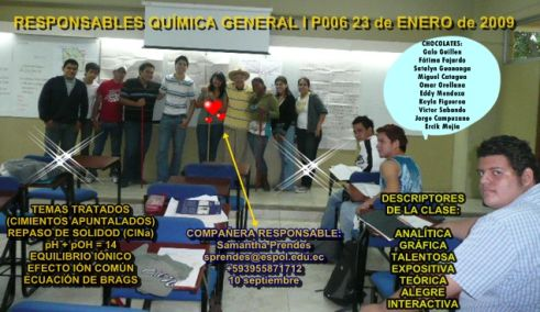 RESPONSABLE POR CLASE DEL VIERNES 23 DE ENERO 2009