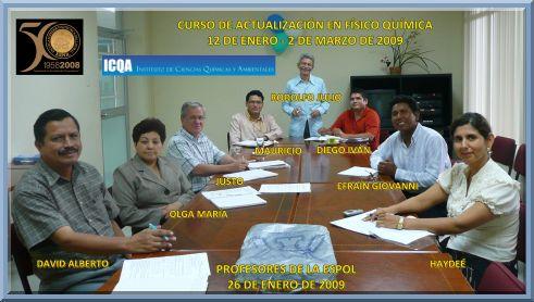 Curso de actualización para profesores de la ESPOL / 12 de Enero – 2 de Marzo de 2009.