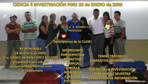 RESPONSABLE DE LA CLASE DEL 28 DE ENERO DE 2009