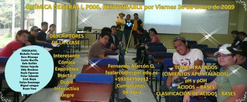RESPONSABLE POR LA CLASE DEL 30 DE ENERO DE 2009