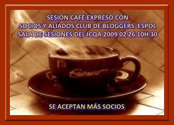 UNA TAZA DE CAFÉ PARA AVANZAR CON EL CLUB DE BLOGGERS