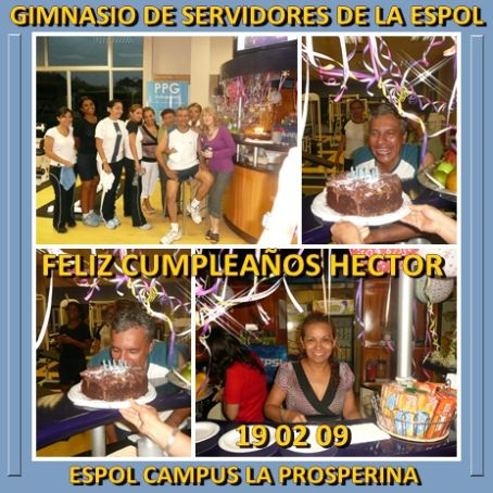 CUMPLEAOS (19 02 2009) HCTOR PLAZA VELEZ CELEBRACIN EN EL GIMNASIO
