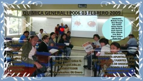 RESPONSABLES CLASES 03 FEBRERO DE 09