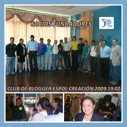 CONFORMACIÓN DE DIRECTIVA CLUB DE BLOGGERS ESPOL 2009 02 19