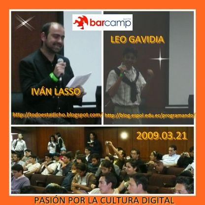 EXPOSITORES BARCAMPQUITO 2009 03 21
