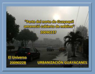 FOTO DE EL UNIVERSO 2009028 URBANIZACIÓN GUAYACANES