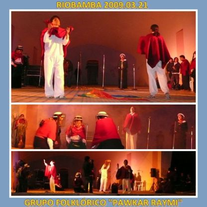 Grupo Folklorico Pawkar Raymi en Riobamba 2009 03 22