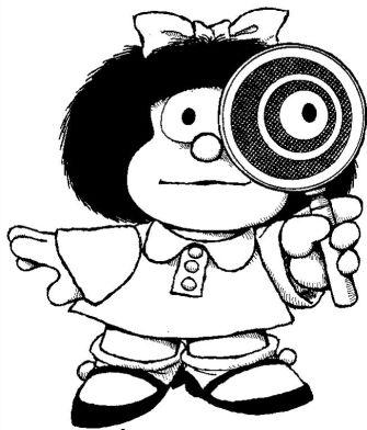 Mafalda observando