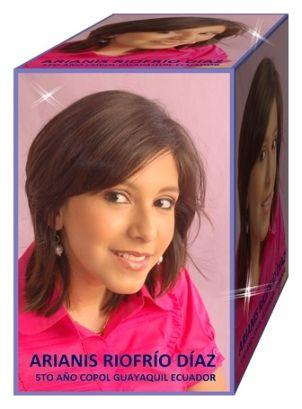 Srta. Arianis Riofrío Díaz, estudiante del COPOL (5to año)