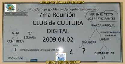 contenido pizarra 2009 04 02 club de cultura digital